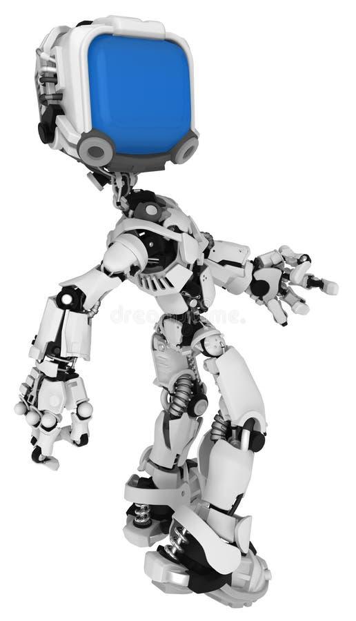 Live Screen Robot, halbe Drehung stock abbildung