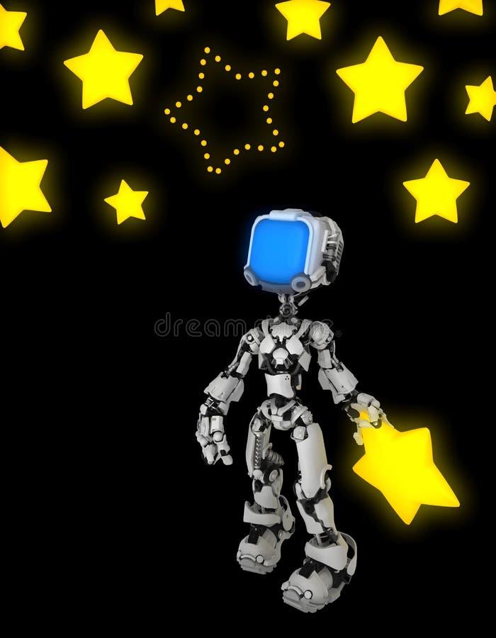 Live Screen Robot, manquer d'étoile illustration de vecteur