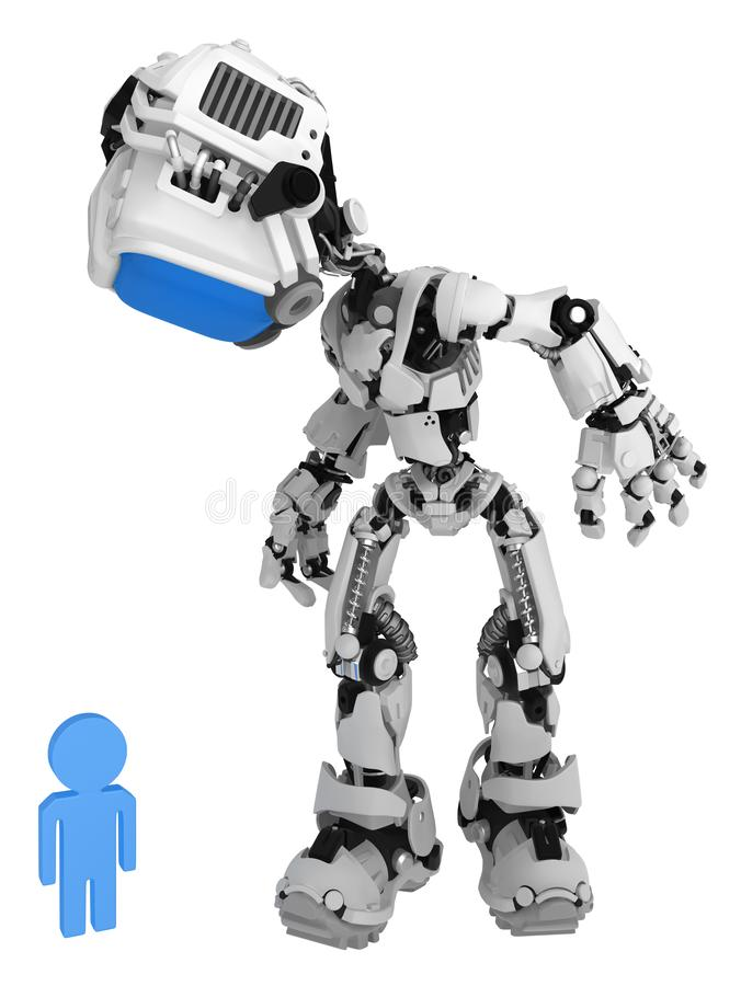 Live Screen Robot, persona ve libre illustration