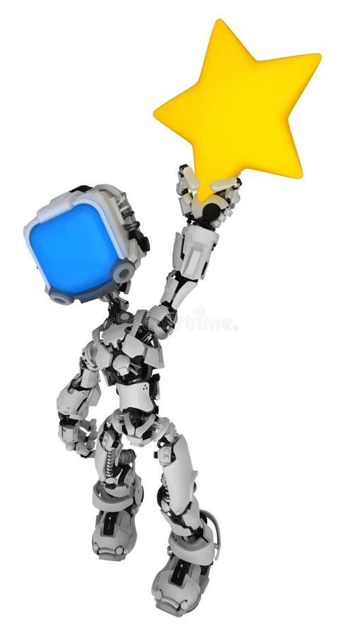 Live Screen Robot, prise d'étoile illustration libre de droits