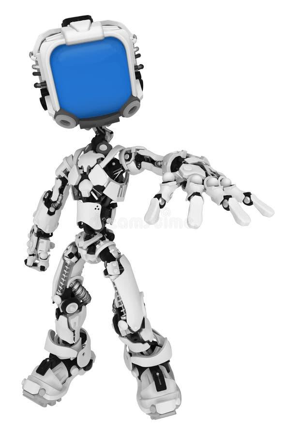 Live Screen Robot, prise de portée illustration stock