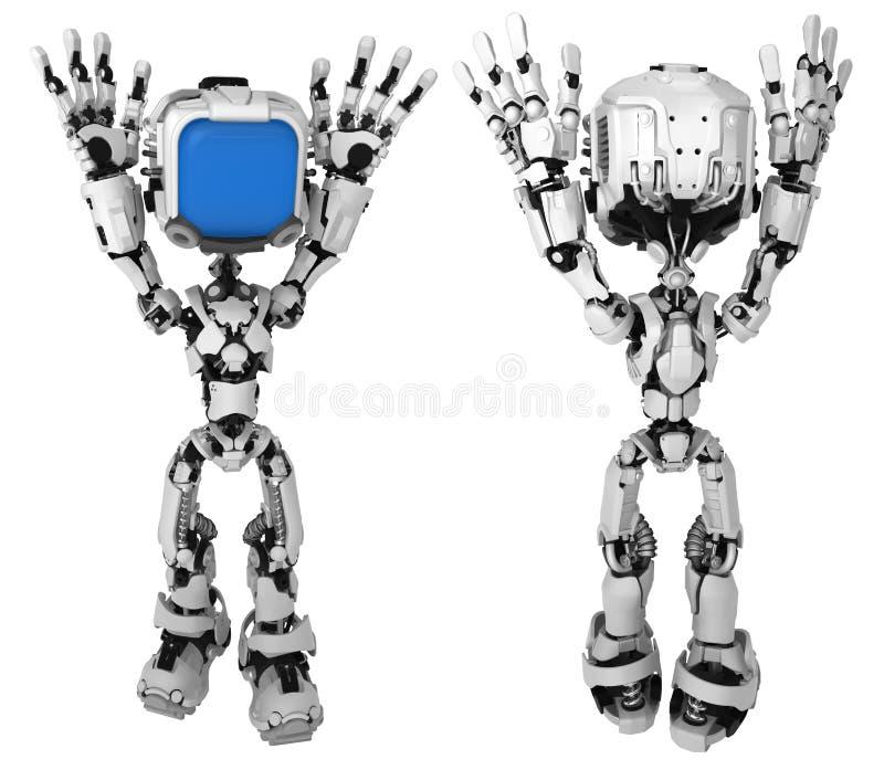 Live Screen Robot, Surrender royalty free illustration