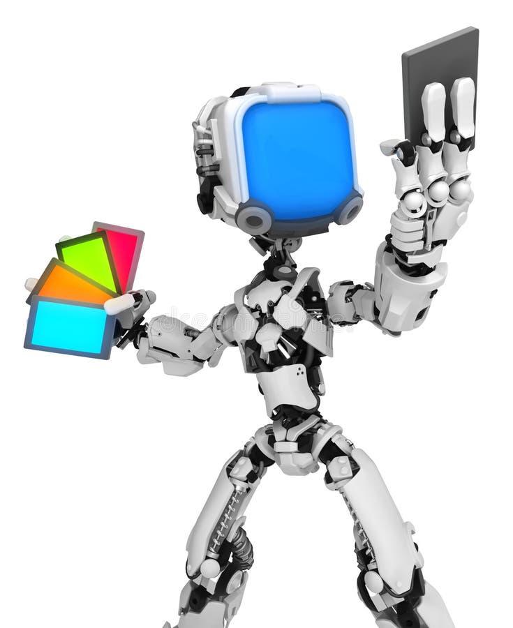 Live Screen Robot, tarjetas del teléfono ilustración del vector