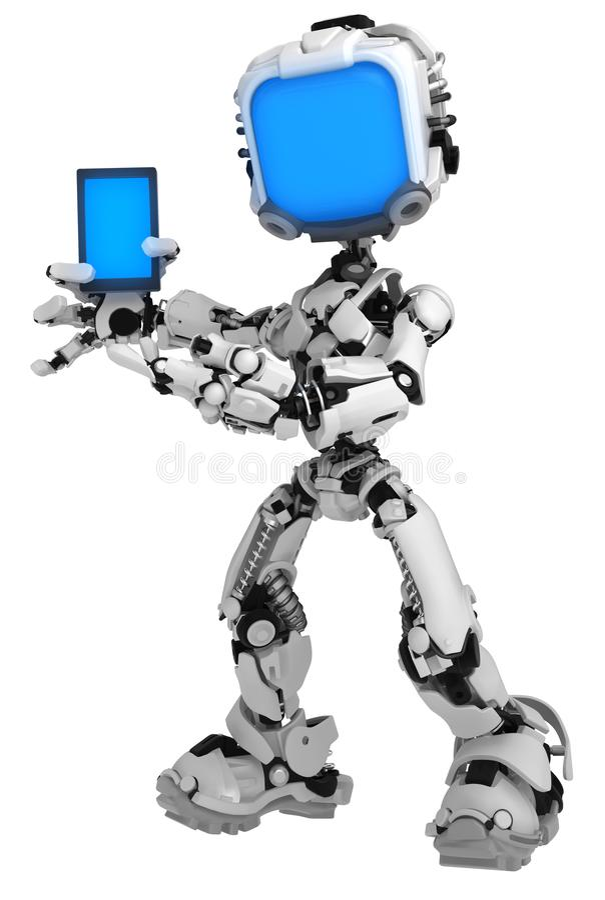 Live Screen Robot, Telefon-Show vektor abbildung