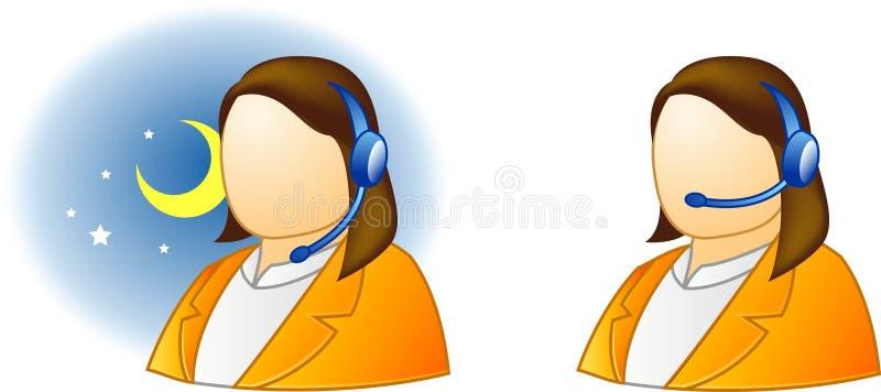 live service för hjälp royaltyfri illustrationer
