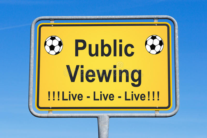 Download Live soccer sign stock photo. Image of game, blue, soccer - 24705756