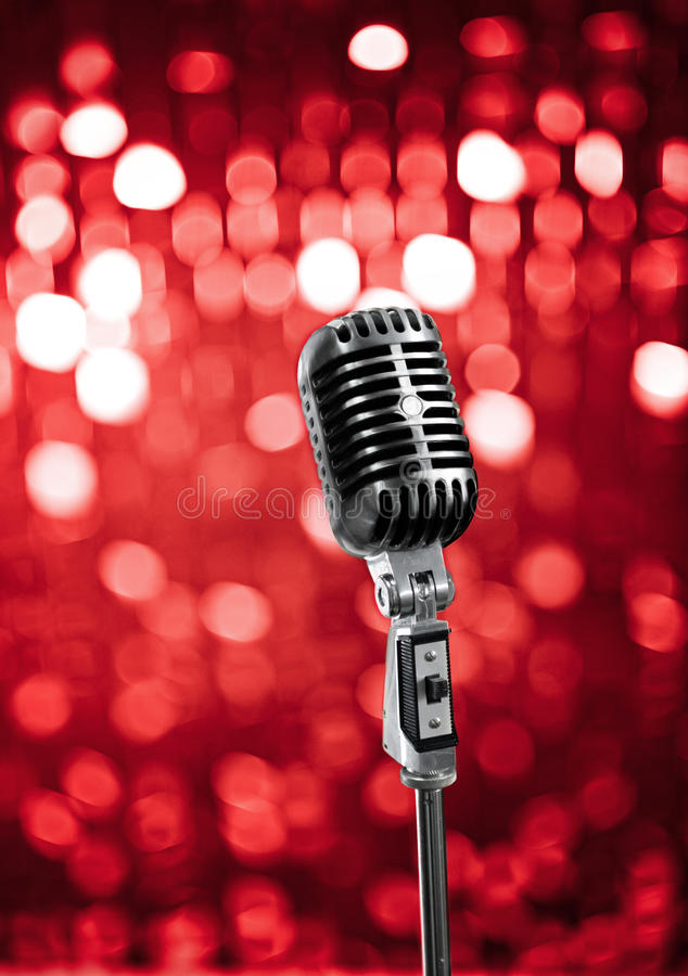 Download Live on stage stock image. Image of microphone, classic - 12478237