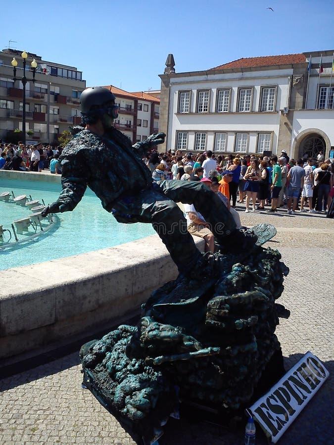 Live Statues in Espinho, Portogallo fotografie stock