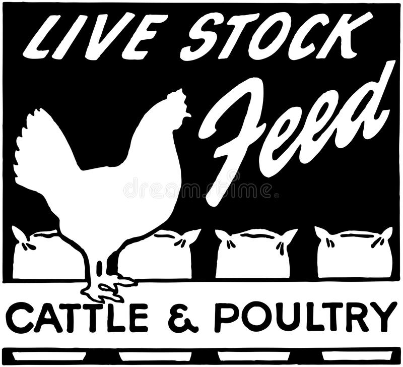 Live Stock Feed illustration stock