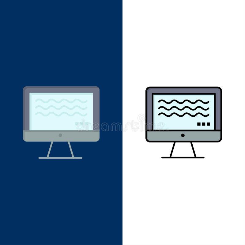 Live, strömend, Live Streaming, Digital-Ikonen Ebene und Linie gefüllte Ikone stellten Vektor-blauen Hintergrund ein lizenzfreie abbildung