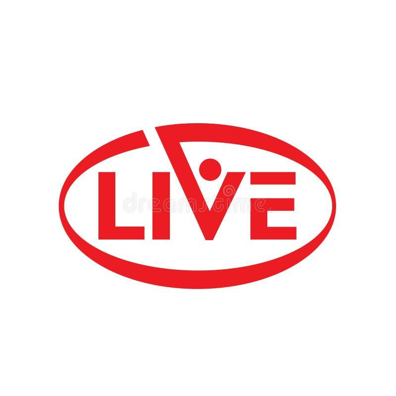 Live stream logo design. Vector illustration. Design template, now, global, loud, volume, speaker, arrow, cinema, network, cloud, word, globe, show, breaking royalty free illustration