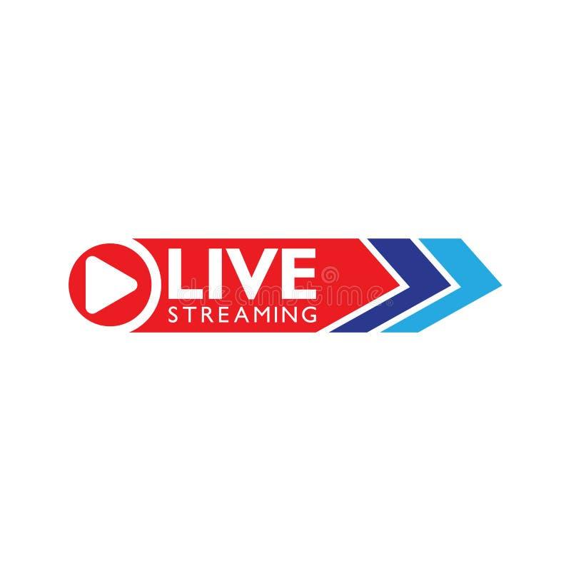 Live stream logo design. Vector illustration. Design template, now, global, loud, volume, speaker, arrow, cinema, network, cloud, word, globe, show, breaking vector illustration