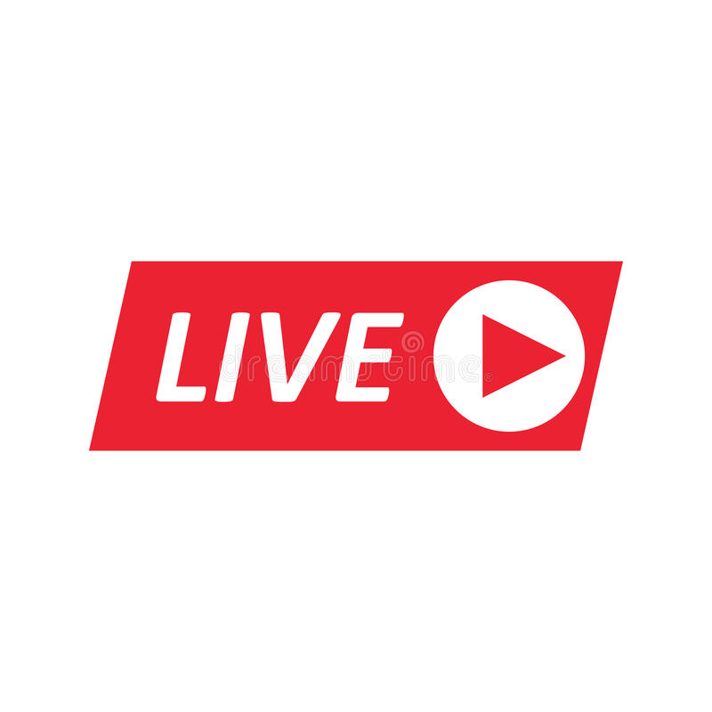 live stream sign emblem logo stock vector