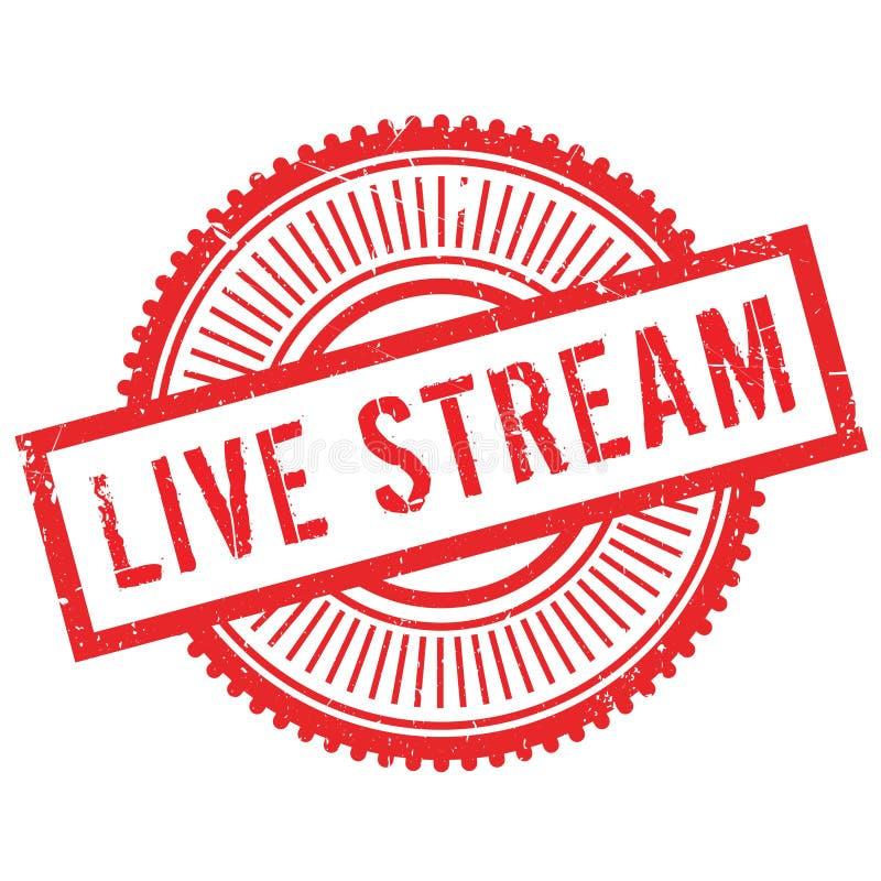 Live stream stamp vector illustration
