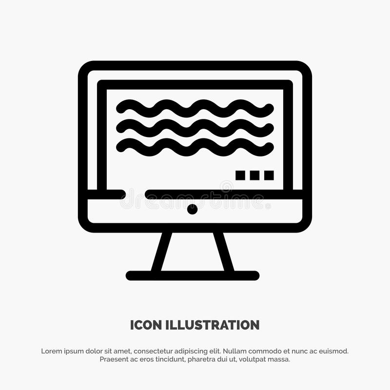 Live, Streaming, Live Streaming, Digital Line Icon Vector stock illustration