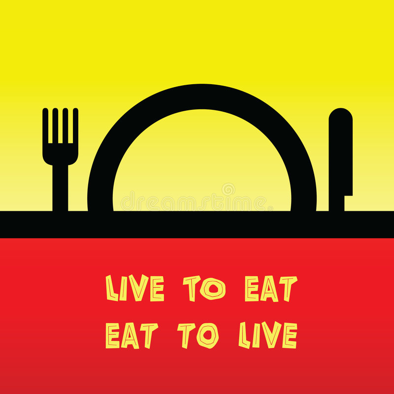 Download Live to eat stock vector. Illustration of grand, yellow - 8553647