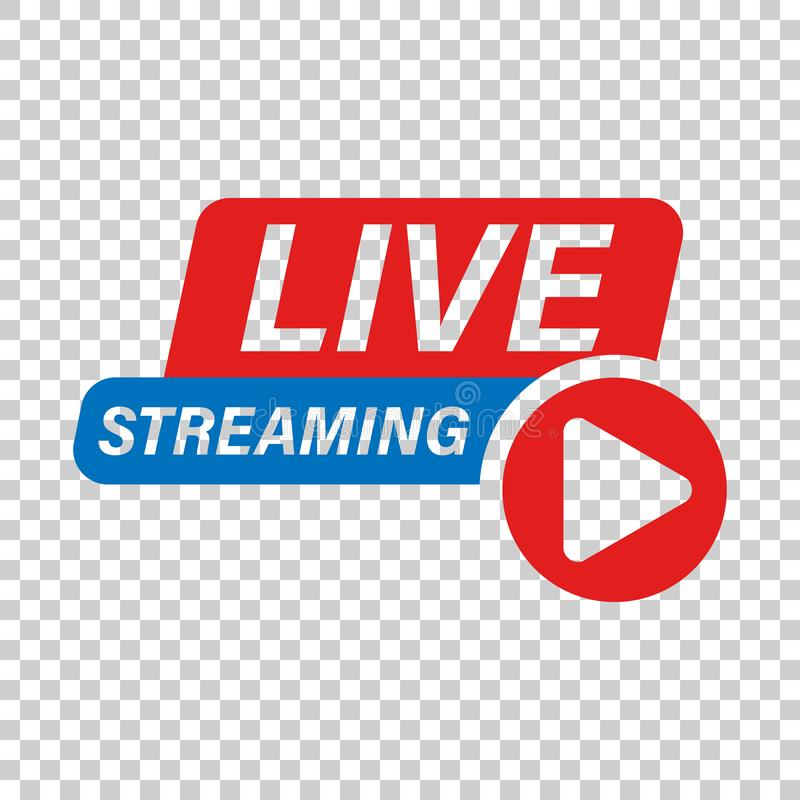 Live video icon in transparent style. Streaming tv vector illustration on isolated background. Broadcast business concept.  vector illustration