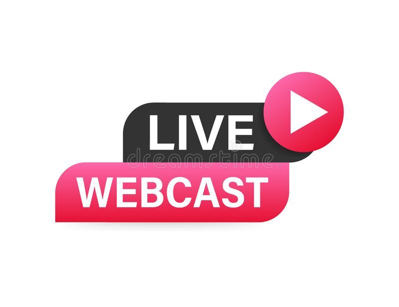 Live Webcast Button, ic?ne, embl?me, label Illustration courante de vecteur illustration stock