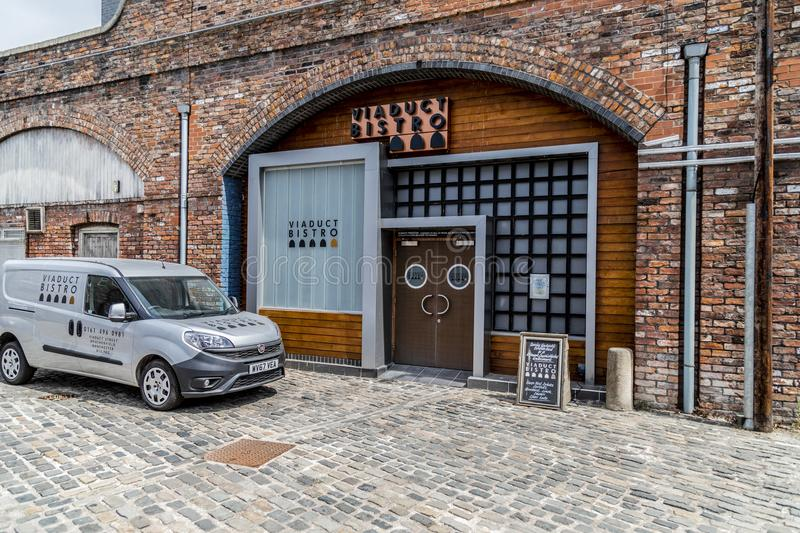 A look around the new working Coronation Street Set. This is the live working set used from 2018in the television series Coronation Street royalty free stock photography