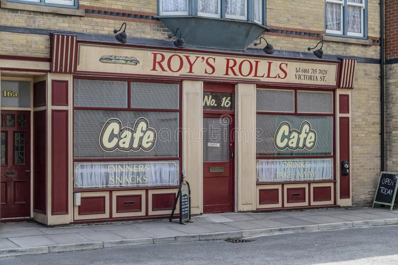 A look around the new working Coronation Street Set. This is the live working set used from 2018in the television series Coronation Street royalty free stock images