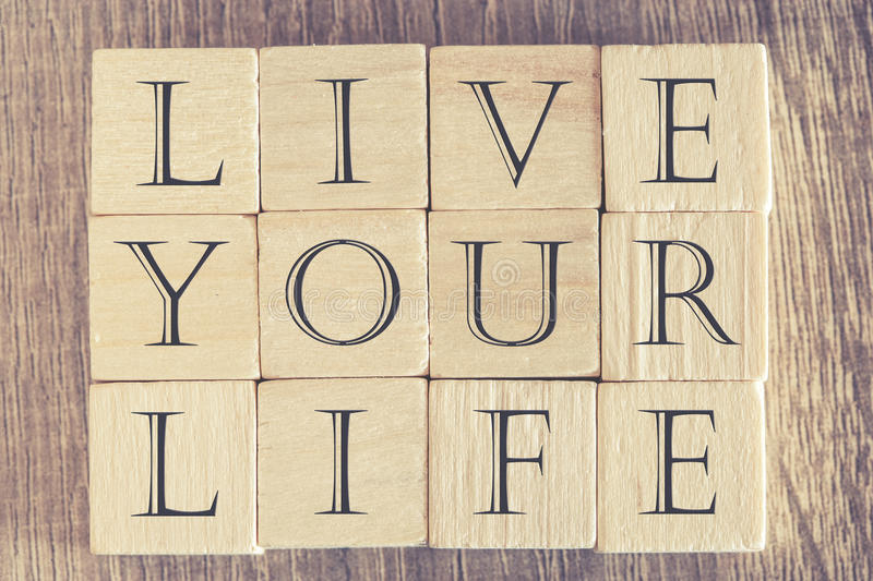 Live Your Life-bericht stock foto's