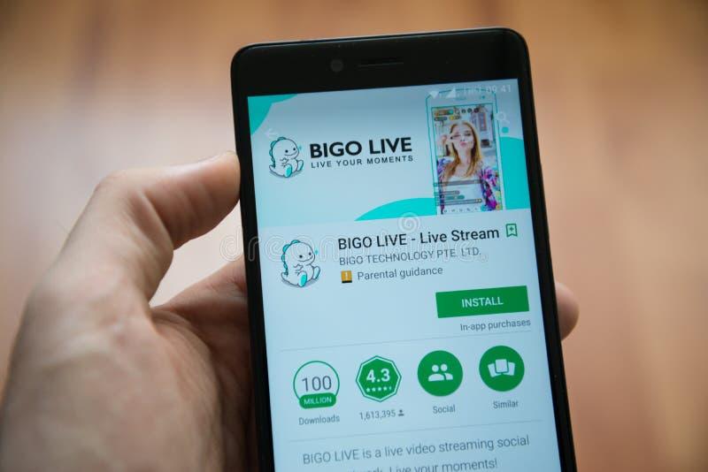 Liveanwendung Bigo im Google-Spielspeicher stockfotos
