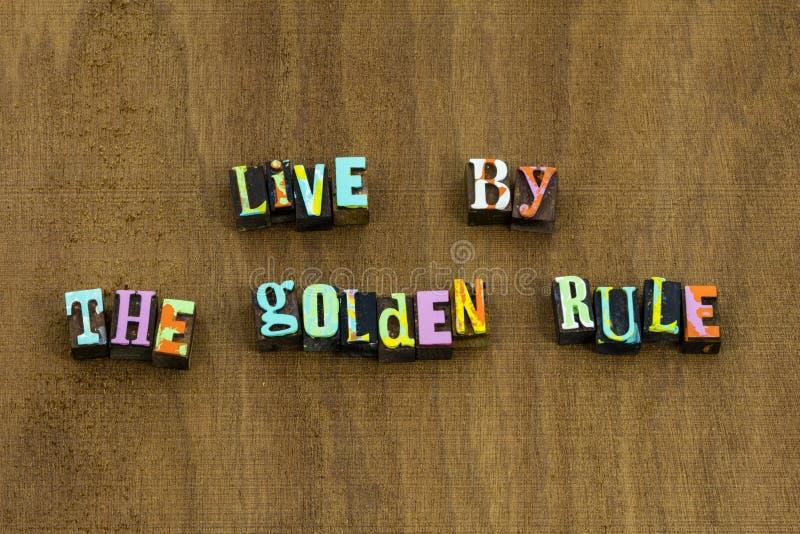Livegoldene regel tun an andere Güte stockbilder