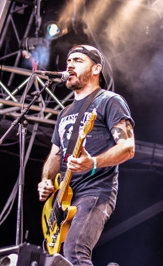 Livekonzert schmutziger Band Fonzy Punkin Hellfest-Festival 2016 stockbild