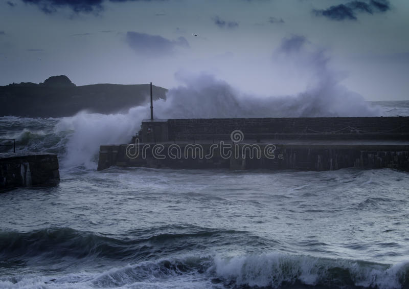 Livelli in aumento del mare del mutamento climatico fotografia stock libera da diritti