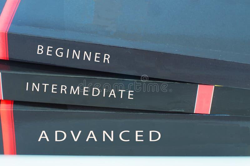 Livelli di libri di studio fotografia stock