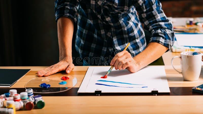 Livello artistico di creativit? di ispirazione della pittura dell'artista fotografia stock