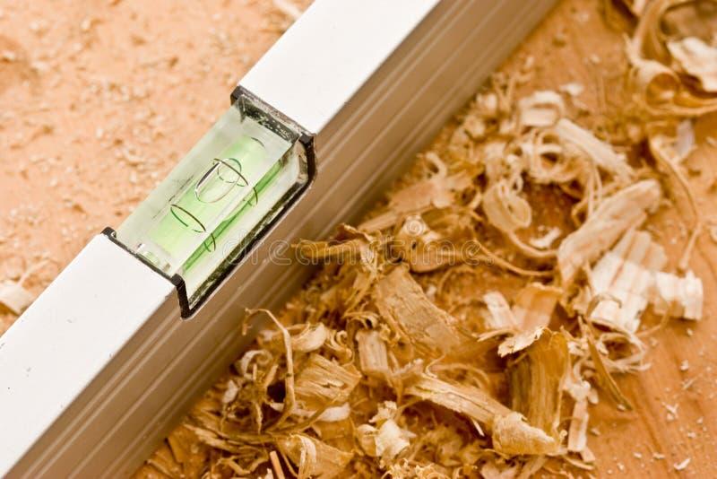 Livello del carpentiere fotografie stock