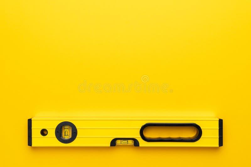 Livello di spirito giallo fotografia stock