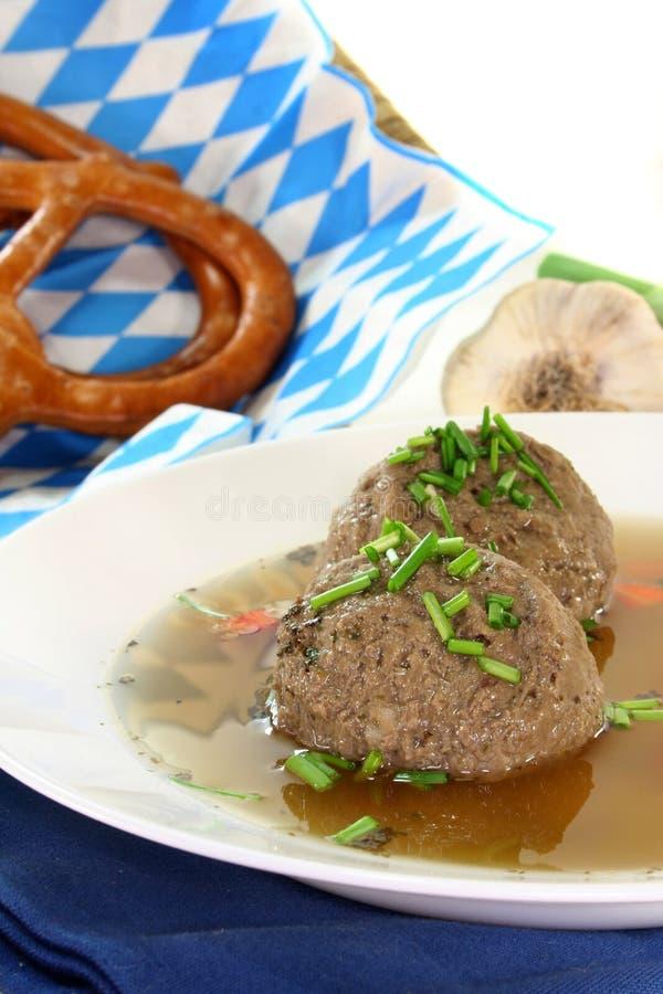 Liver Dumpling Soup Stock Photography