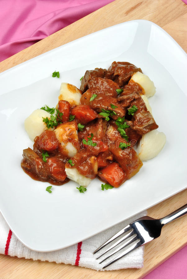 Download Liver Goulash On Potato With  Carrot Stock Photo - Image: 16440328