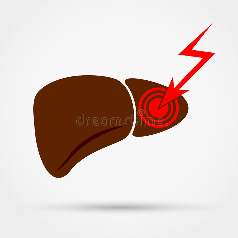 Liver pain icon vector illustration