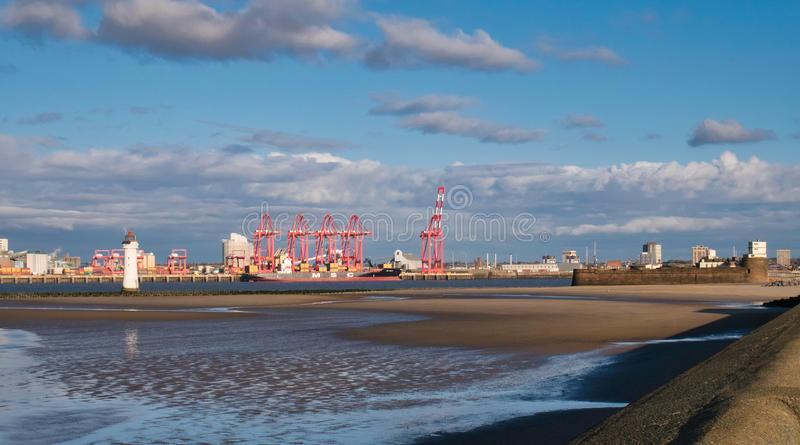 Liverpool2 - a £400 million deep-water container terminal at the Port of Liverpool. stock images