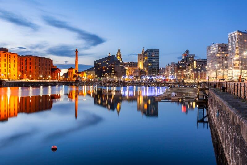 Liverpool Albert skeppsdocka England UK arkivfoton
