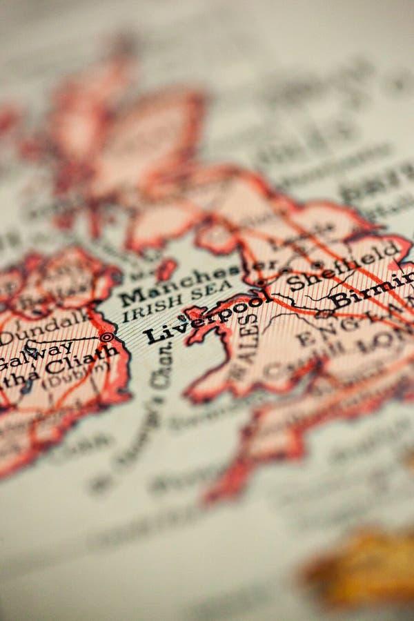 Liverpool Angleterre sur la carte images libres de droits