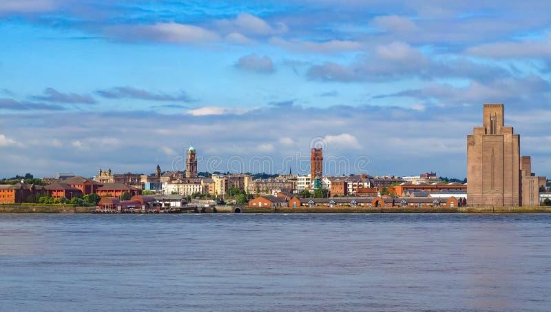 Liverpool Birkenhead waterfront stock fotografie