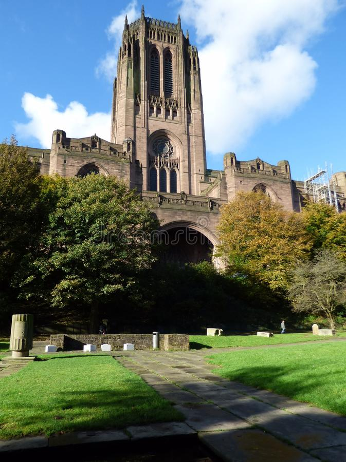 Liverpool Cathedral on St James Mount royalty free stock image