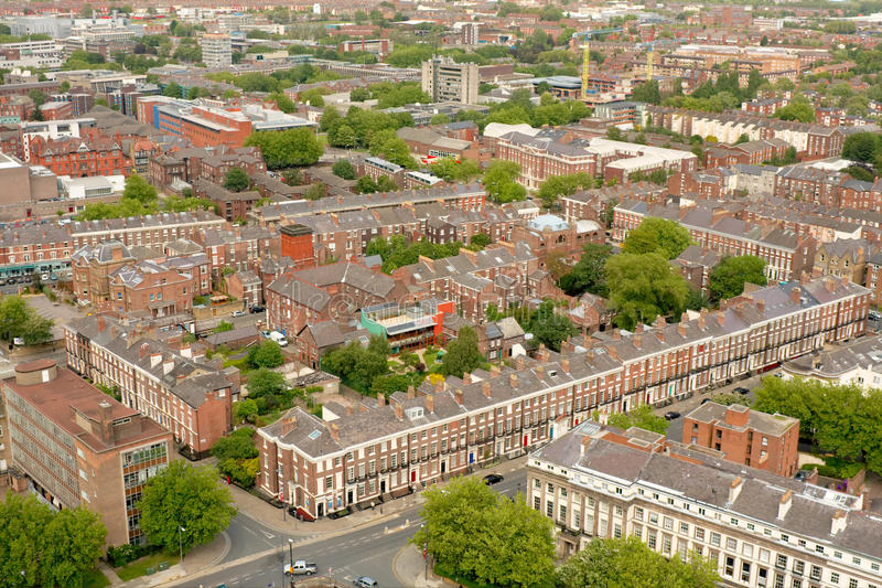 Download Liverpool City Centre Terraced Houses Stock Image - Image of houses, england: 19851459