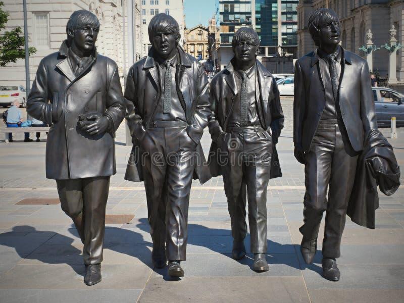 Liverpool, clube da caverna, o Beatles enfrenta, bares no centro da cidade imagens de stock