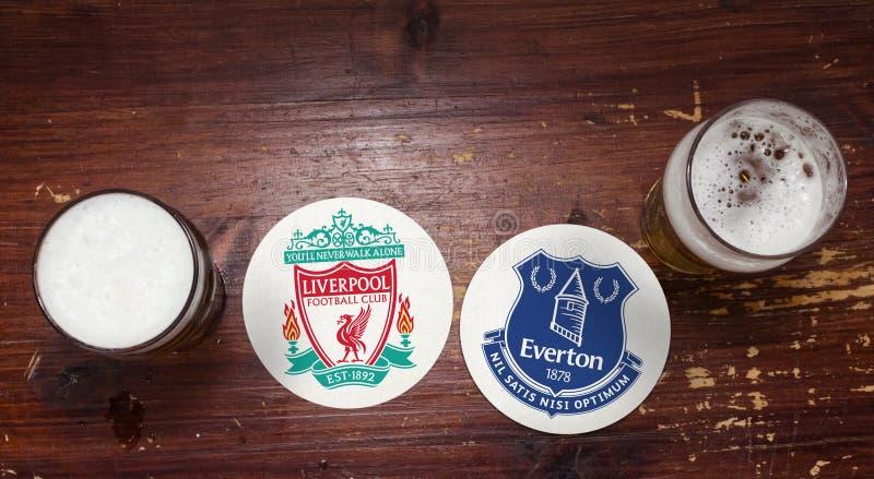 Liverpool contre Everton images libres de droits