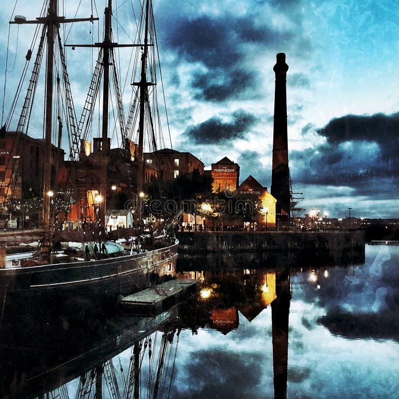 Liverpool Dockside fotografia royalty free