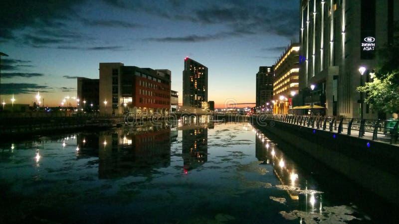 Liverpool doki zdjęcie royalty free