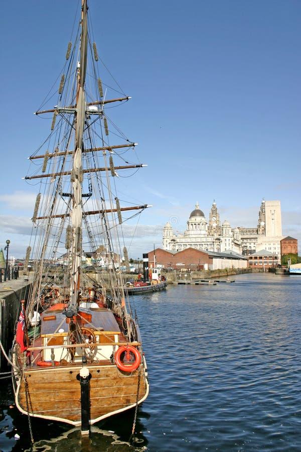 Liverpool doku statków fotografia royalty free