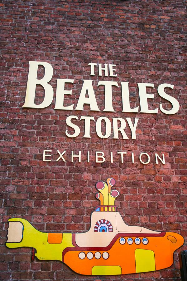 Welcome to The Beatles Story royalty free stock image
