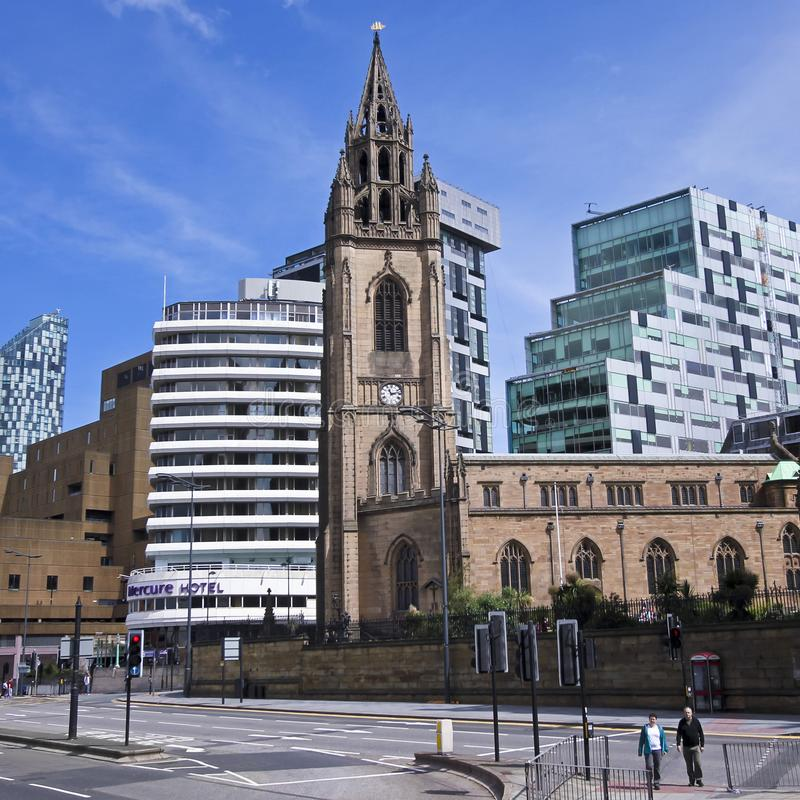 A Church of Our Lady and St. Nicholas Scene, Liverpool, England, GB, UK royalty free stock image