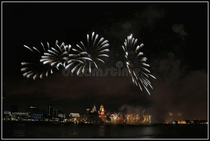 Liverpool Fireworks1 royalty free stock image